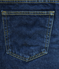 Denim Fabric Texture - Blue Pocket