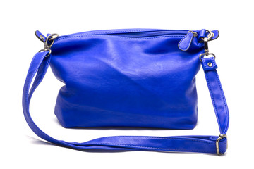 nice shiny blue bag.