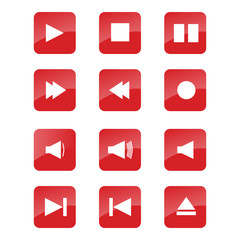 Media Buttons Set