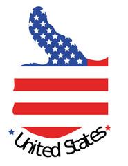 Éxito United State con fondo blanco