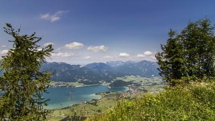 Panorama - Salzkammergut - Wolfgangsee - Footage