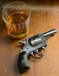 gun and alcohol
