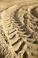 Tire Tracks in the Sand - Surface Level