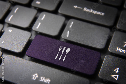 Purple Dishware keyboard key, Food background