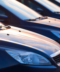 Row of cars, abstract background