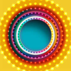 abstract shiny lights background, frame