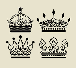Crown Curl Decorations Set