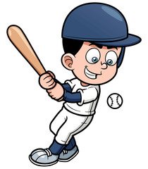Vector illustration of Cartoon Baseball Player