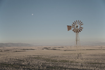 Windpump and moon