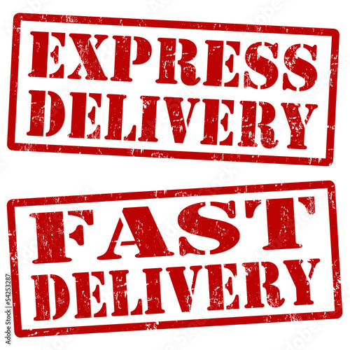 Express delivery and fast delivery stamps