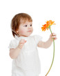 cute kid girl with flower