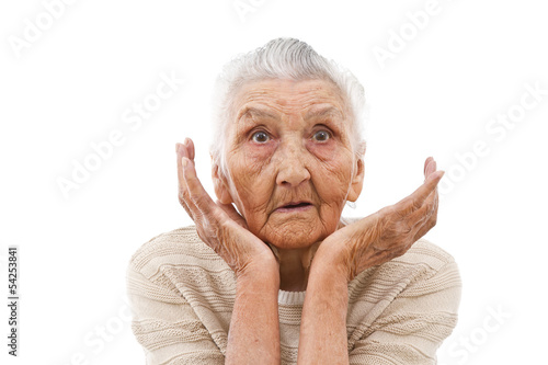 astonished old lady
