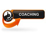 coaching sur bouton web design orange