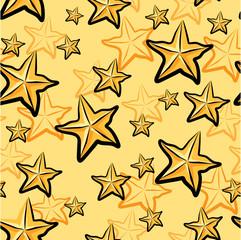 Seamless Star fruits pattern