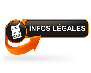 infos légales sur bouton web design orange
