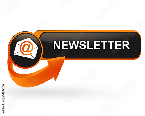 newsletter sur bouton web design orange