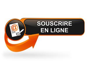 souscrire en ligne sur bouton web design orange