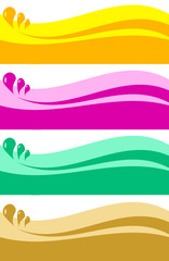 Colorful abstract borders