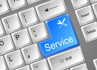 Tastatur Enter Service blau