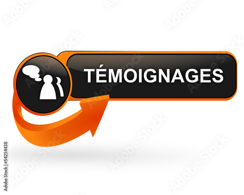 témoignages sur bouton web design orange
