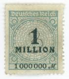 Hyper inflation - German vintage stamp poster