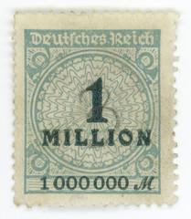 Hyper inflation - German vintage stamp