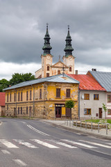 Church in Podolínec town in northern Slovakia
