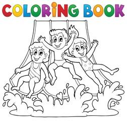 Coloring book aquapark theme 1
