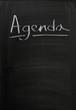 Agenda on a used Blackboard