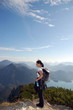 kurze Pause auf dem Berggipfel
