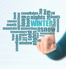 winter word cloud