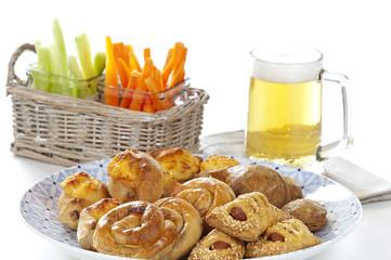 assortment of greek appetizers