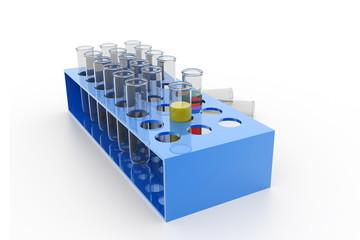 Test-tubes on isolated  background
