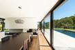 Modern villa, interior, beautiful dining room