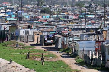.le bidonville de Khayelitsha proche du Cap