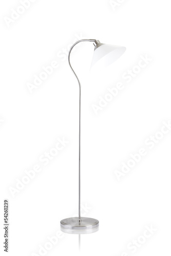 adjustable floor lamp isolated on white background