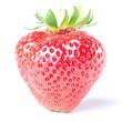 Erdbeere isoliert vor weiß