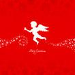Angel Holding Star Red/Beige