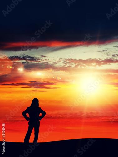 sunlight businesswoman