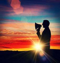 megaphone sun flare