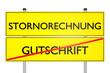 Stornorechnung vs Gutschrift - 3D