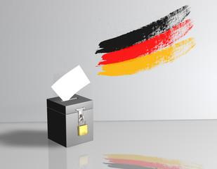 Wahlurne Wand Flagge