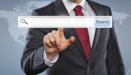 Businessman with Toolbar