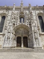 Ornate portal of Jeronimos Monastery, Lisbon