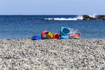 Toys on a beach