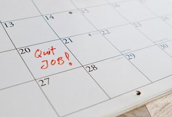 To quit job