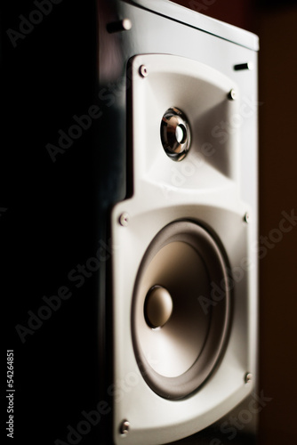 The Audio speaker close up
