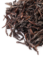 Chinese black tea isolated on white background