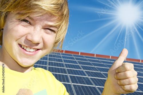 canvas print picture Ja zur Solarenergie