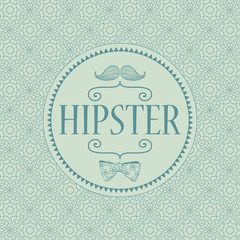Hipster decorative card design template